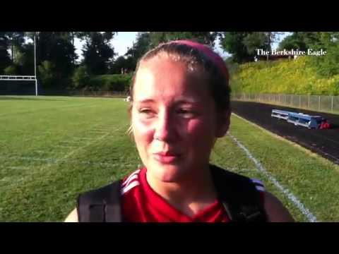 Mount Greylock's Kelsey Orpin (@korpin4) talks about the Mounties' season-opening 7-1 soccer win ove