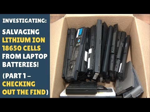 Recycling/Salvaging Lithium Ion (Li-ion) 18650 Cells from Laptop Batteries! (Part 1)