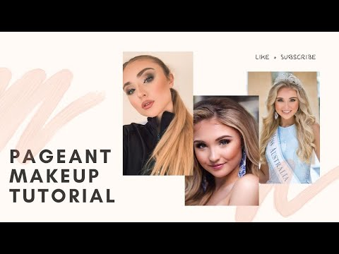 PAGEANT MAKEUP TUTORIAL | Beginners Guide To Makeup