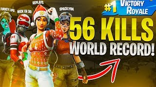 FORTNITE 56 KILLS WORLD RECORD!(ft. Nick Eh 30, FaZe SpaceLyon & Turkeylips)- Fortnite Battle Royale
