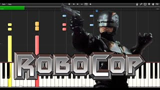 Robocop Theme - Synthesia - Piano Tutorial - Beginner