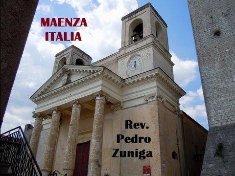 Misa Rev. Pedro Zuniga, Maenza, Italia