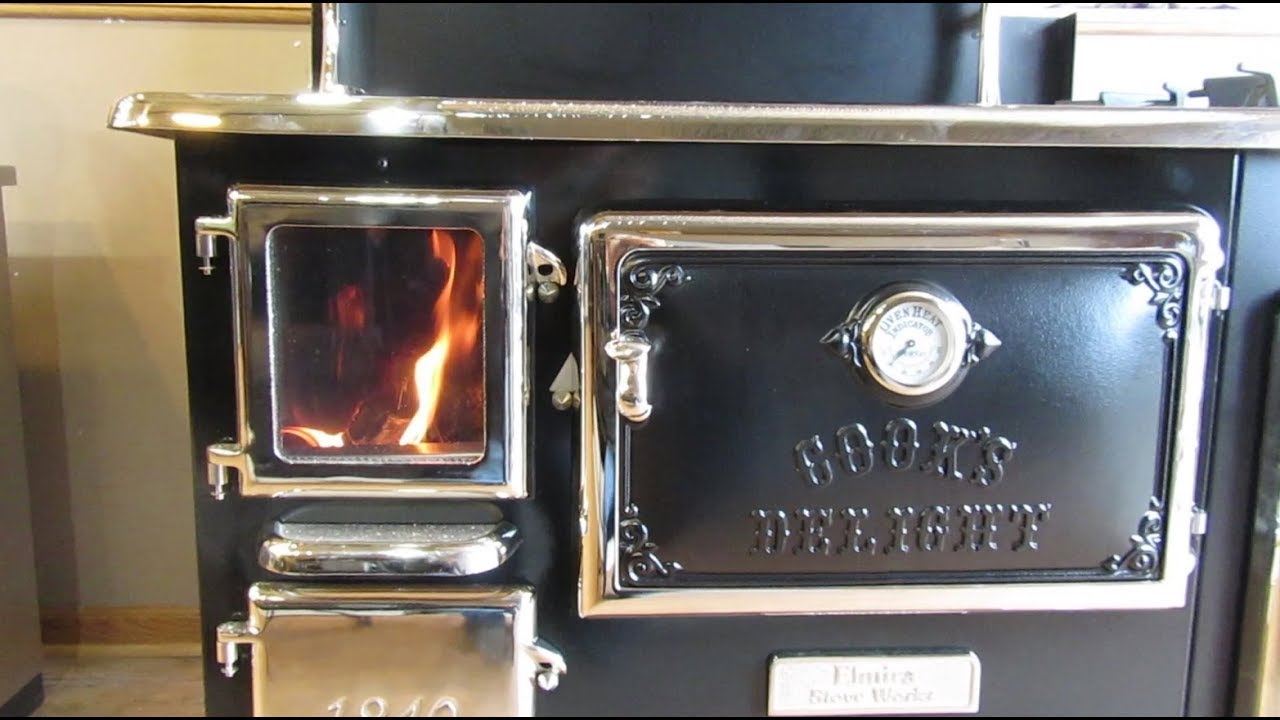 Obadiahs Elmira Fireview Wood Cookstove Burning The Stove