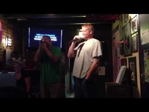 Karaoke night at Wrigley's Chicago Bar & Grill