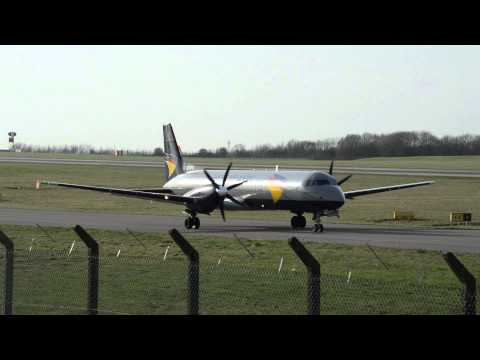 Atlantic Airlines | BAE ATP | G-BTPH | Pushback, Time-lapse & Takeoff At East Midlands Airport | HD