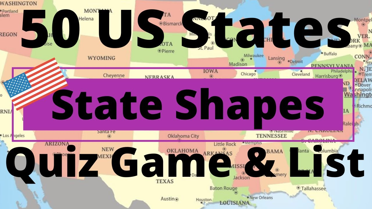 worksheet Us States And Capitals Printable Worksheets 50 us states shapes quiz game list youtube list