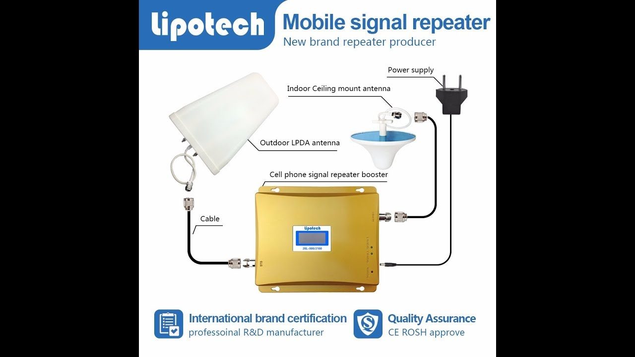 419a197e22d385 Mobile Phone Signal Booster Repeater 3G 2100Mhz - YouTube