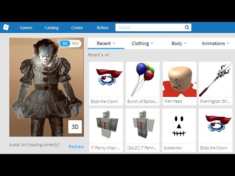 Making PennyWise The Clown A Roblox Account!