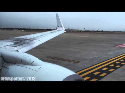 American Airlines 737-800 Takeoff From Dallas/Fort Worth International Airport