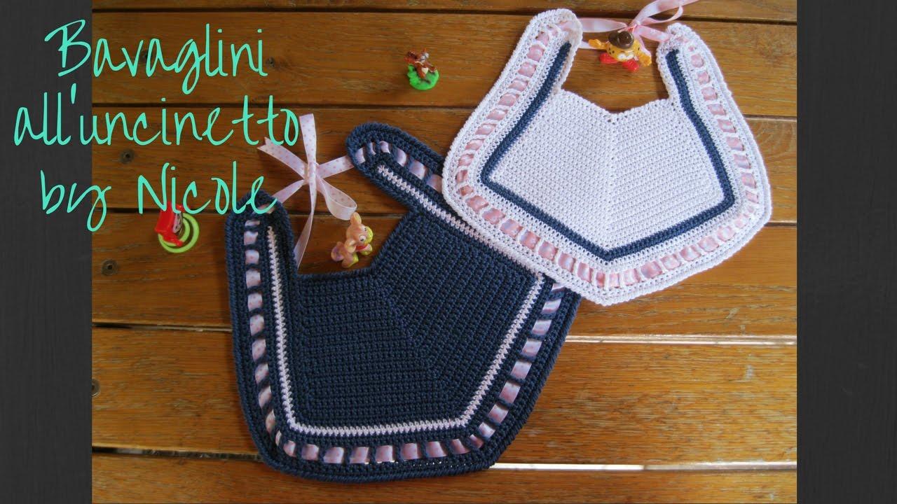 Bavaglino Alluncinetto Crochet Baby Bib Youtube