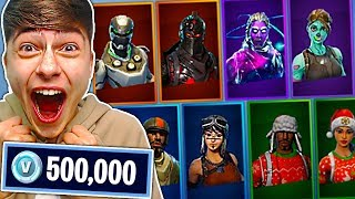 Kid Spends 500,000 vBucks For Items in Fortnite....