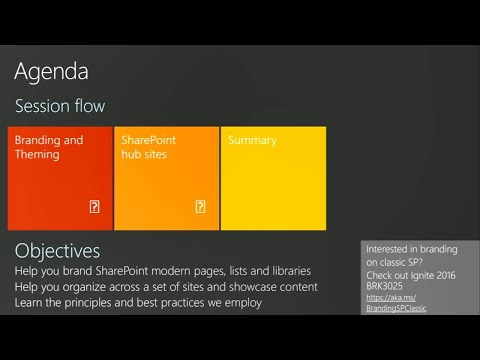 What's New And What's Coming For Branding And Organizing Your SharePoint Sites  - BRK2393