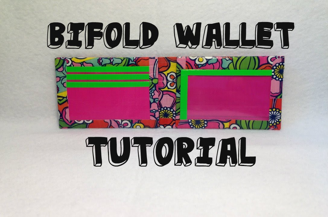 Tutorial Bifold Duct Tape Wallet Youtube