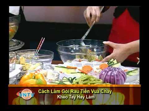 VNTV- Cách Làm Gỏi Rau Tiến Vua Chay - Cải Cung Đình