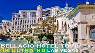 Bellagio Hotel tour , Las Vegas (walking tour 4k)