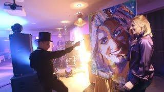 Artbabichshow.  Елена Володичева .  Портрет руками гостей в San Paolo
