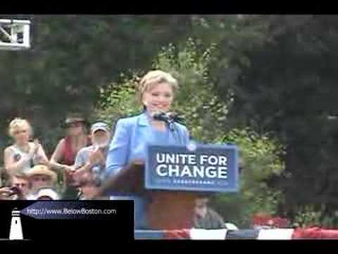 Hillary Clinton in Unity New Hampshire 2008