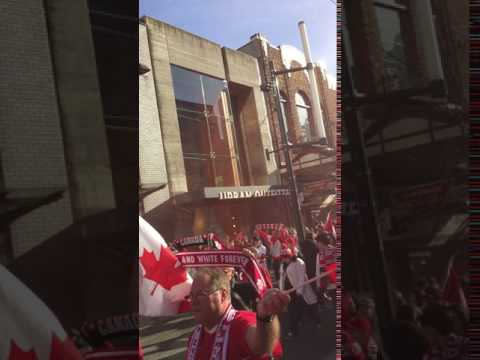 March to the Stadium   Vancouver WCQ