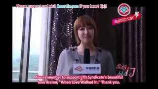 [HeartfxSubs] 120401 When Love Walked In Cast Sends Blessings to Fans - f(x) Victoria (en)