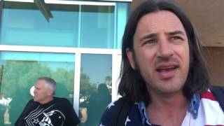 interview with donald trump protester punched kicked at tucson rally