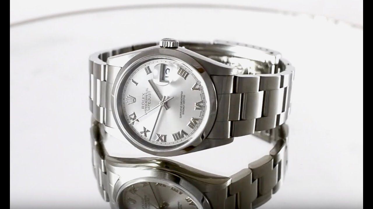 109255fee6a Rolex Datejust Steel Roman Jubilee 116233 | Iconic Watches