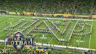 Notre Dame band's incredible halftime show vs. Michigan I NBC Sports