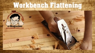 How to flatten your woodworking bench with hand planes