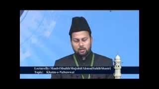 Jalsa Salana Qadian 2012 Shaikh Mujahid Ahmad Shastri Editor Weekly Badr Qadian during his speech