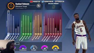 TAKING OVER STAGE WITH MY OFFENSIVE THREAT 94 BADGE UPGRADE LEGEND BUILD! BEST PG BUILD NBA2K20!