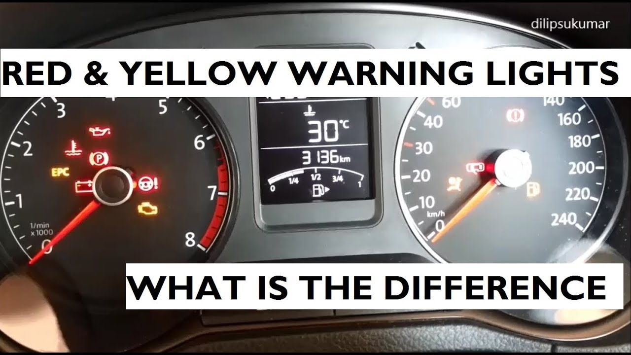 Difference Between Red & Yellow Warning Lights In Your Car