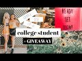 DAILY LIFE OF A COLLEGE GIRL + GIVEAWAY  | SAM BLY