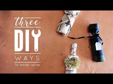 How to Gift Wrap Wine Bottles | Three DIY Ideas with 90 + Cellars