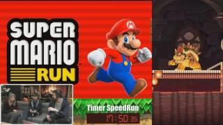 Kwev tente de SpeedRun Super Mario Run, Record du monde ?