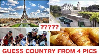 Guess the Countries from 4 Pics - Part 1 - Top Tourist Destinations & Attractions