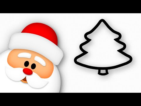 Christmas Tree & Santa drawing | Happy New Year kids!