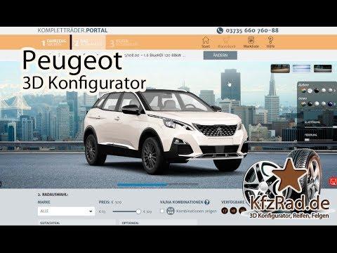 peugeot - 3d konfigurator reifen und felgen bei kfzrad.de, pkw