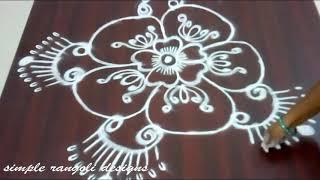 freehand muggulu - Simple kolam designs - creative freehand rangoli without dots