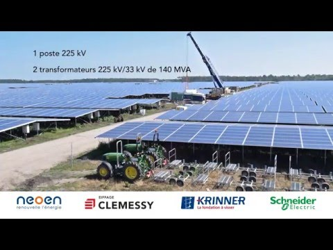 Construction of PV power plant in Cestas, France