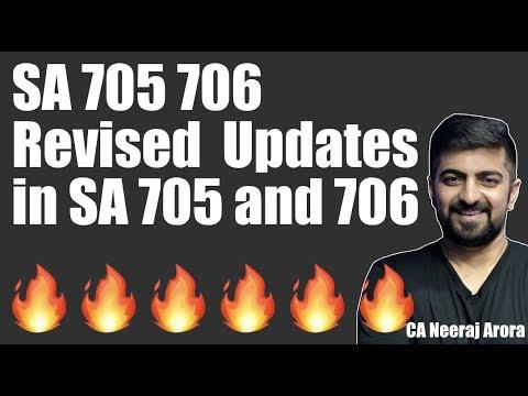 SA 705 706 Revised | Updates in SA 705 and 706