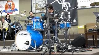 """Cobus drum cover of """"Pop"""" at Udrum Clinic"""