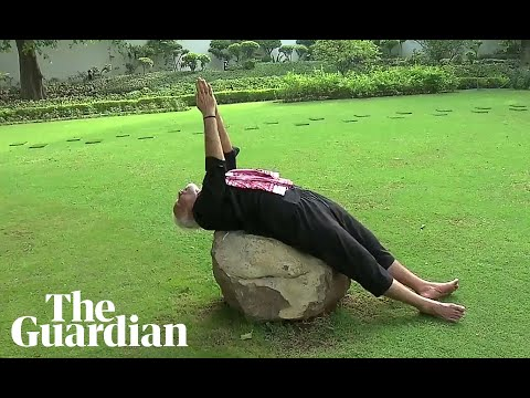 Stretch, bend and flex: Indian PM releases fitness video