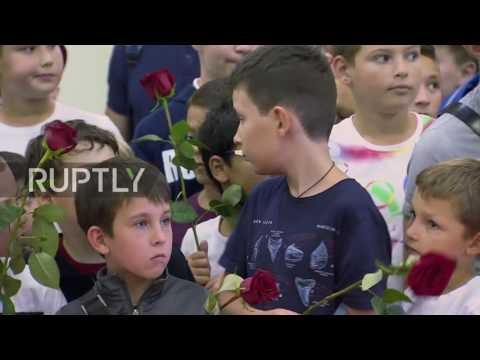 Russia: Olympic Judo winners received in Moscow with warm welcome