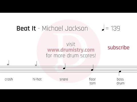 Michael Jackson - Beat It Drum Score