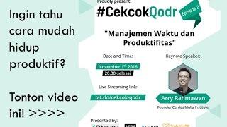 Tips Manajemen Waktu dan Meningkatkan Produktivitas Hidup | Free Webinar