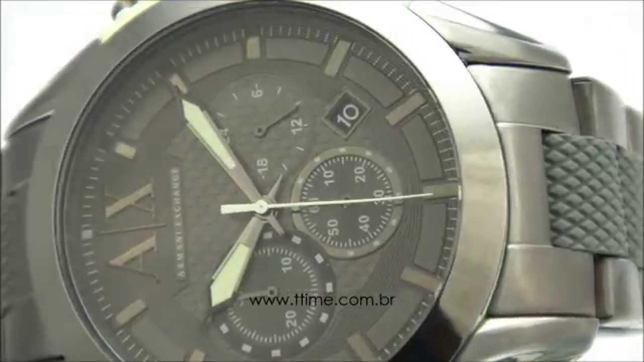 5a7a7afa12acf Relógio Armani Exchange AX1385 1PN - YouTube