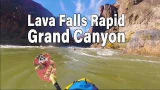 Packrafting Lava Fall Rapid - Grand Canyon