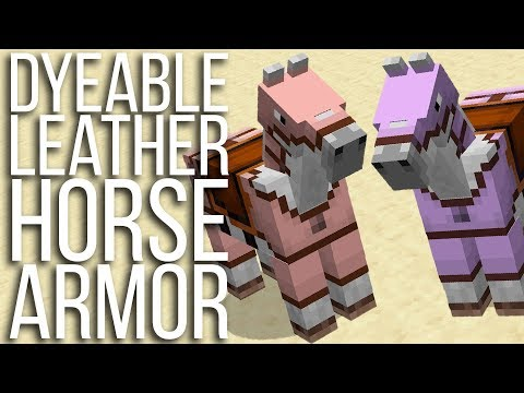 Horse Armor In ANY Color! Dyeable Leather Horse Armor In Minecraft!