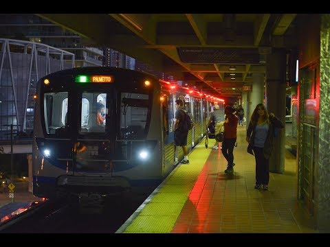 NEW Miami Metrorail Cars First Day in Service!
