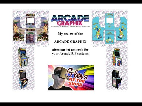 Arcade Graphix decals for your Arcade1UP review