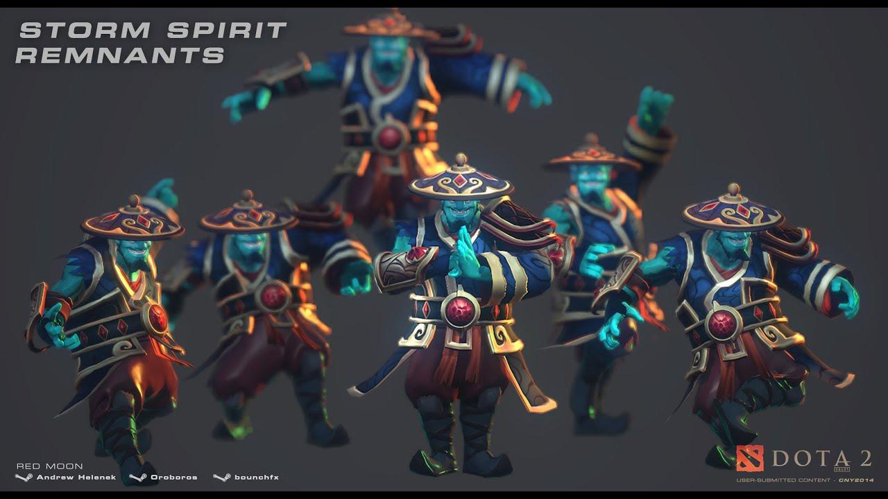 dota 2 storm spirit good fortune remnants kinetic gem review